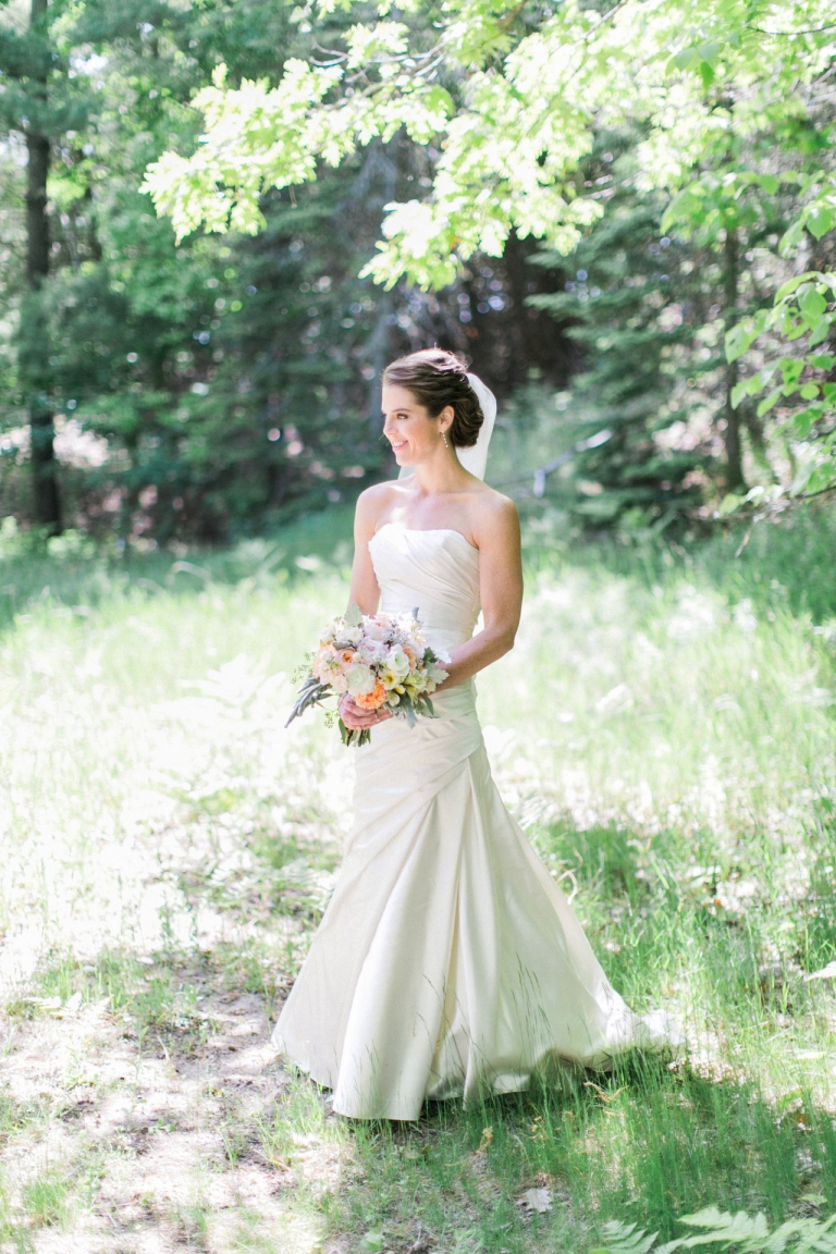 Laurie Baumeler Wedding Flowers | Pronovias Bridal Gown | The Weber Photographers