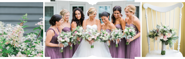 The Inn at Bay Harbor | Bridesmaids Purple dresses | Monarch Garden & Floral | The Weber Photographers | Associate Photographer Megan Newman