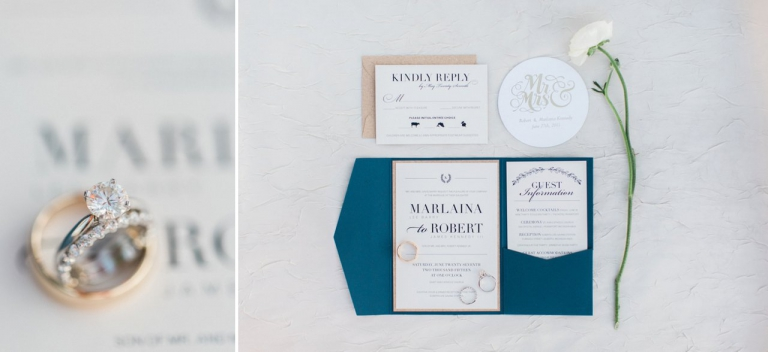 Navy & Gold Invitations | The Weber Photographers | Associate Photographer Megan Newman