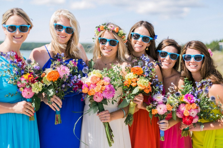 Bright Flowers | Bright Colors Bridesmaids Dresses | The Weber Photographers | Associate Photographer Chelsey Granger