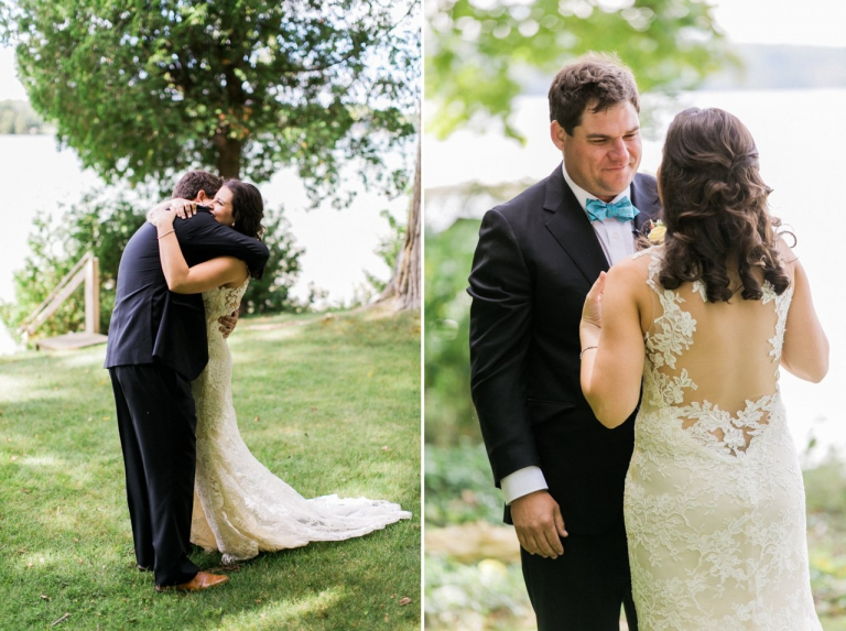 First Look | Traverse City Michigan Wedding Photographer | The Weber Photographers | Cory Weber
