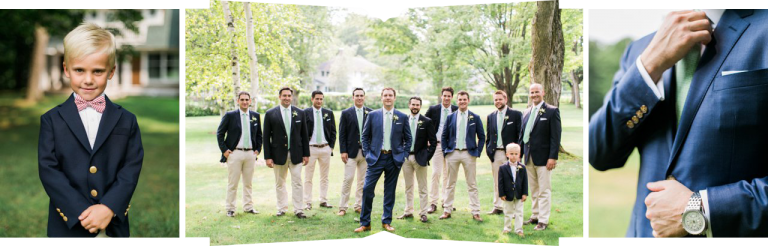 Classic Look for Groomsmen | Navy & Khaki | The Weber Photographers