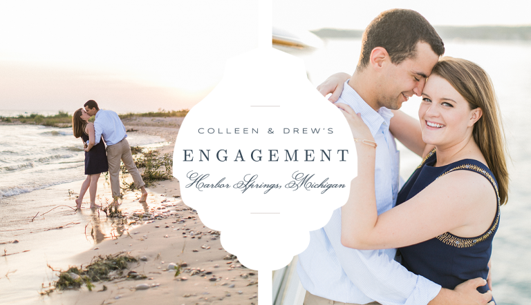 Harbor Springs Engagement Photography | Colleen & Drew | The Weber Photographers