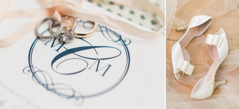 Walloon Lake Wedding Photographer | Holly Thomas Design | Kate Spade Sparkle wedding heels | The Weber Photographers