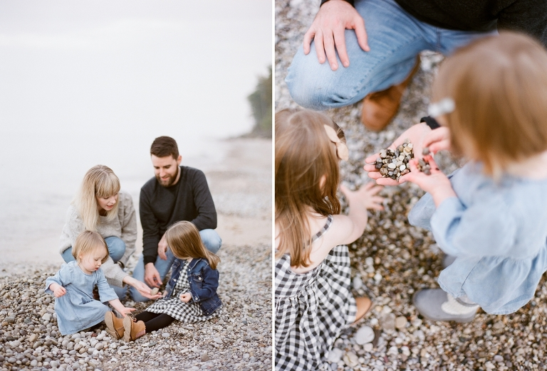 Lake Michigan Family Portrait | The Weber Photographers