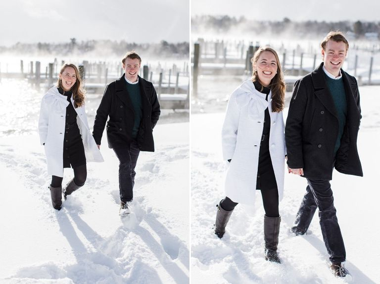 Lakeside Winter Engagement Photography | The Weber Photographers