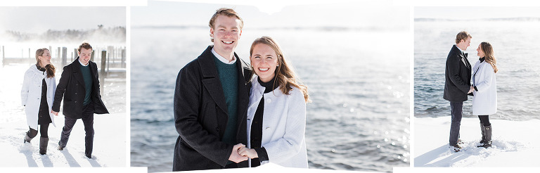Northern Michigan Winter Engagement Photography | The Weber Photographers